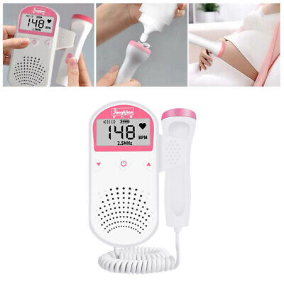 2.5mhz Fetal Prenatal Baby Heart Rate Detector Household Beat Monitor Us