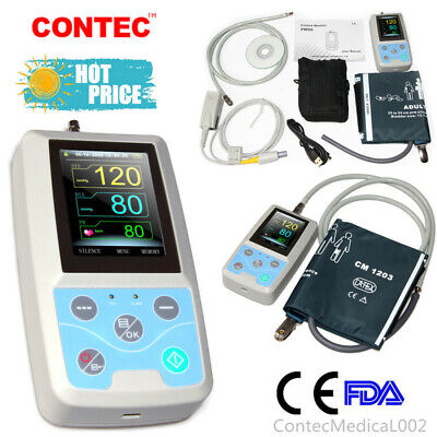 Ambulatory Blood Pressure Monitor Patient Monitor Pulse Oximeter Nibp Spo2 Prus