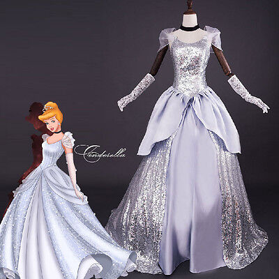 Deluxe cinderella dress adult halloween costume Ladies cosplay Prom Ball Gowns (Halloween Costume Ball Gowns)