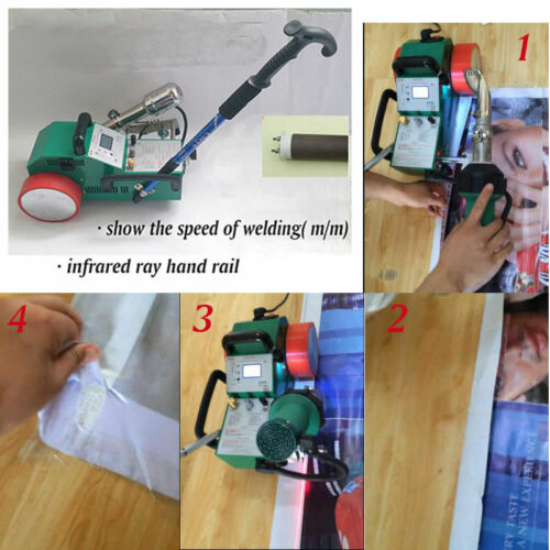 110V Welding Heat Jointer Machine Automatic PVC Banner Automatic 1.8KW