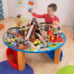 Dinosaur train and table set