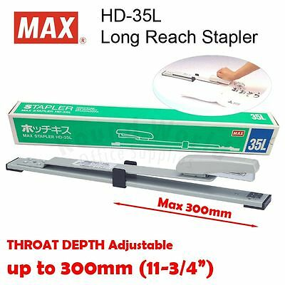 Max Hd-35l Long Reach Desktop Booklet Stapler Staples Up To 25 Sheets