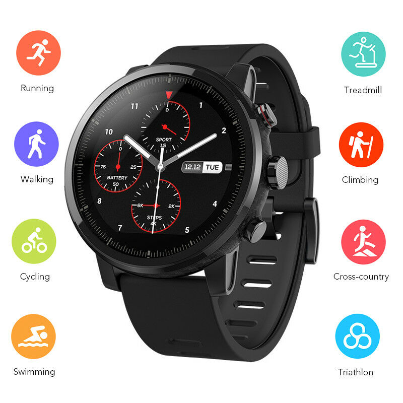 Xiaomi Huami Amazfit Stratos Pace 2 Smart Watch Band GPS Eng