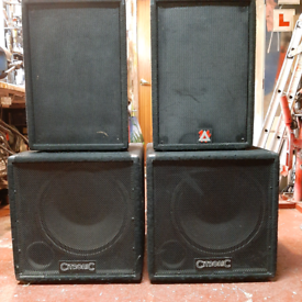 PA speakers or DJ speakers