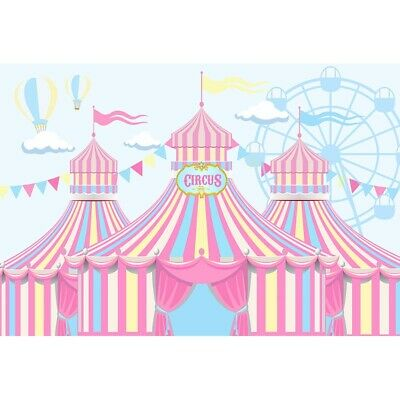 Newborn Baby Shower Circus Theme Party Decoration Girl Backdrop Banner Children  (Circus Themed Baby Shower Decorations)