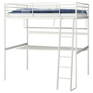 White Ikea twin Loft Bed