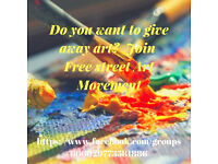 Do you want to give away art?Join Free Street Art movement
