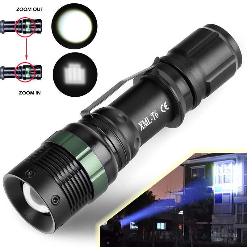 8000 Lumen Zoomable CREE XM-L T6 LED Flashlight Torch Tactical Light Aluminum Camping & Hiking