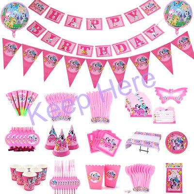 My Little Pony Kindergeburtstag Party Dekoration Mädchen Tischdecke Teller Tasse ()