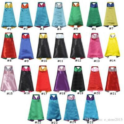 Childrens Capes & Cloaks (Kids Capes Solid Color Plain Blank Satin Costume Superhero Party)