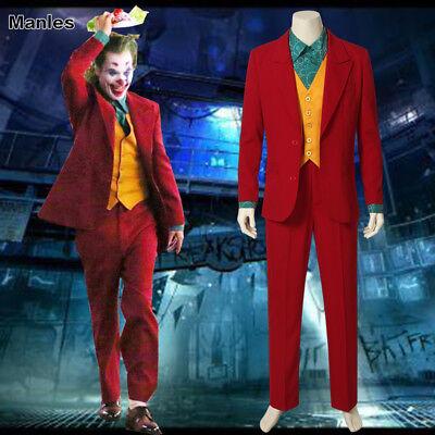 Joaquin Phoenix's Joker Costume Joker Origin Movie Cosplay Arthur Fleck Outfits](Costume Phoenix)