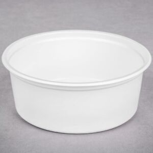 8 Oz White Containers & Lids (4000 units)