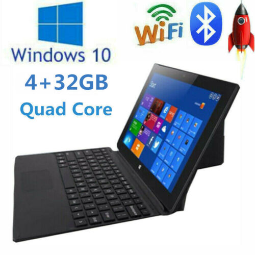 windows tablet - 10.1 inch Z8350 Quad Core 4+32GB Dual Camera Windows 10 2 in 1 Tablet Laptop PC