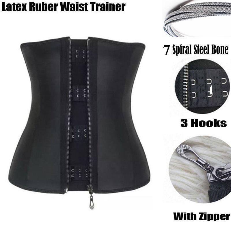 a204094d0c2fb Corset Body Shaper Latex Rubber Waist Trainer Underbust Zipper Slimming  Cincher!