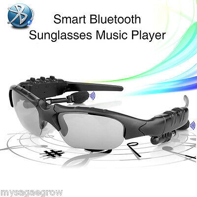 Bluetooth Smart Glasses Polarized Sunglasses with Stereo Earphone Pedometer UK