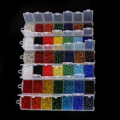 Czech 500Pcs 4mm Hole:2mm Round Colorful Glass Seed Beads DIY Jewelry Finding Beads Finding 2 Hole