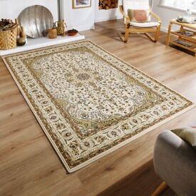 BNWT Kendra Persian Rug - Cream Beige - 200x285cm