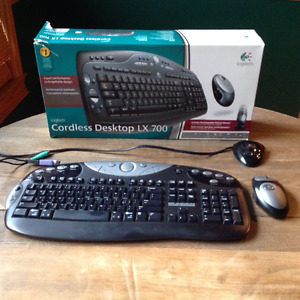 Logitech Cordless/Wireless LX 700 Keyboard with Cordless Mouse