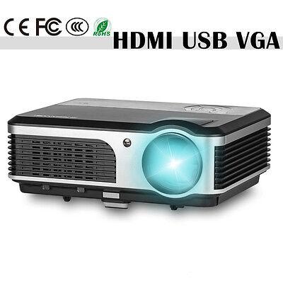 Home Cinema Theater Multimedia LED LCD Projector HDMI USB VGA AV TV HD 1080p