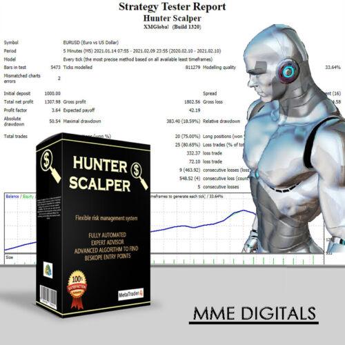 Forex Robot EA Scalper- MT4 Expert Adviser - FEBRUARY 2021  - Ready for use