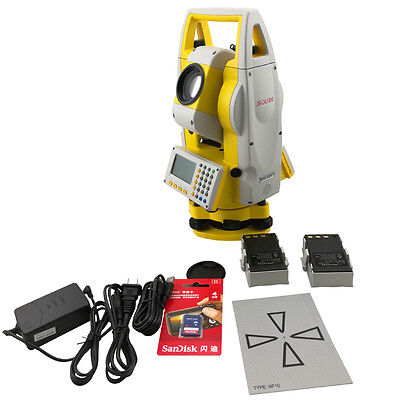 New South Reflectorless 400m Total Station Nts-332r4 With A Prism