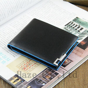 Mens-Leather-Wallet-Black-Card-Clutch-Purse-Pockets-Cente-Bifold-Money-Clip