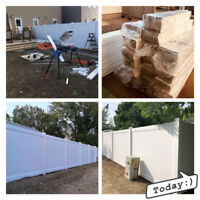 Professional Vinyl Fence with Free Estimate