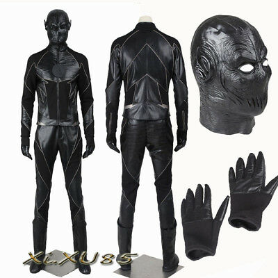 The Flash Black Zoom Villain Reverse-Flash Cosplay Costume with Mask Halloween (Reverse Flash Costume Halloween)