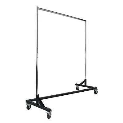 Brand New Z-rack Black Retail Store Home 4 Wheels Adjust Upright To 80 H