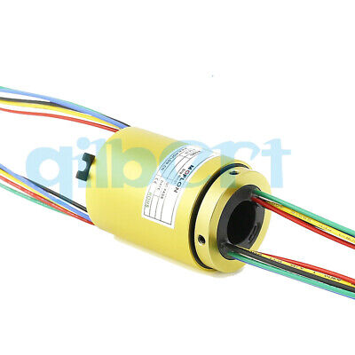 71012.7mm Hole 2-12 Wire 2a 33mm Od 250rpm Capsule Slip Ring Monitor Robotic