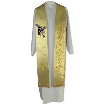 Clergy and Pastoral Stole Silk Dupioni Tapestry