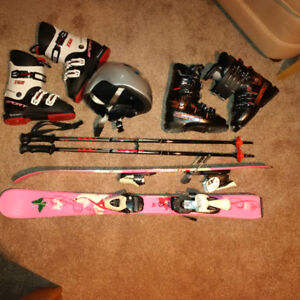 Complete ski package for child