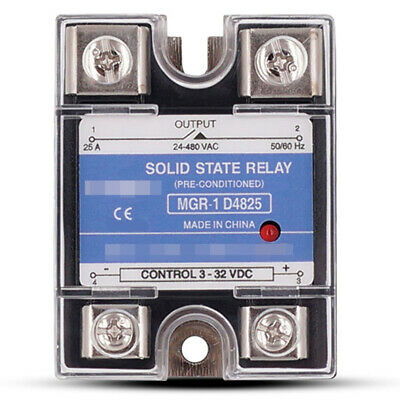 Solid State Relay Mgr-1 D4825 For Mager Single Phase Ssr 25a Dc 3-32v Ac 24-480v