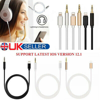 3.5mm Male Jack Car AUX Audio Adapter Cable For Apple iPhone 6 7 8 XS Plus Cord
