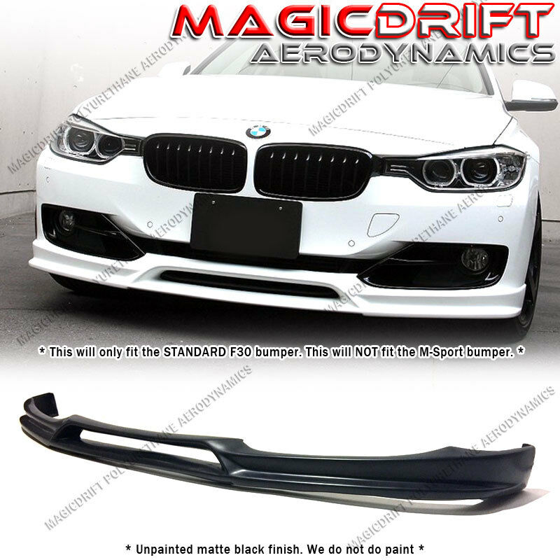f7bb720c8b9 For 12-15 Bmw F30 Base 3-series 3d Style Pu Front Bumper Lip Spoiler Body  Kit