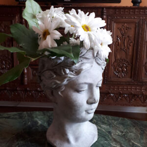 ***Superb Greek Goddess Head Planter/Vase***