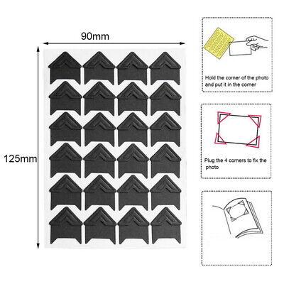 120Pcs/5 Sheet Card Photo Frame Corner Sticker Self-Adhesive DIY Scrapbook Album - Photo Stickers