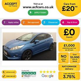 Ford Fiesta 1.6TDCi ( 95ps ) DPF 2011MY Zetec S FROM £20 PER WEEK!