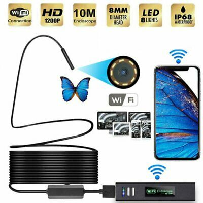 10m WiFi USB Endoskop Wasserdicht Inspektion Kamera iPhone Android Harte Linie (Iphone-kamera Wasserdicht)