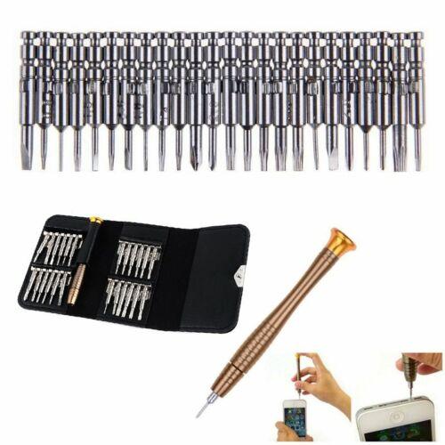 TOP 25x Werkzeugset Mini Schraubendreher für PC Brillen Handy Reparatur Set 【DE】