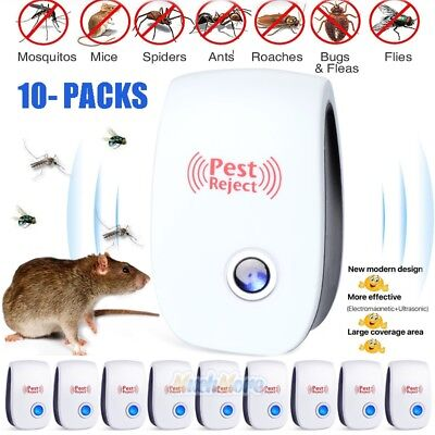 Lot Pest Repeller Reject Ultrasonic Electronic Mouse Rat Mosquito Insect Control