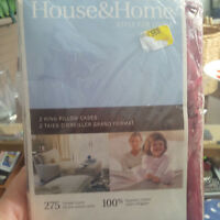 House and Home Egyptian cotton King size pillowcases