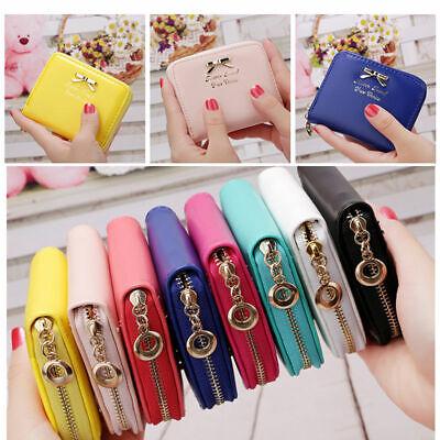 Women Mini Wallet Zipper Card Holder Coin Purse Small Leather Clutch Bag Handbag - Purse Wallet