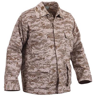 (DESERT Digital Camo BDU SHIRT Military US Marine Corps MARPAT USMC Khaki Jacket)
