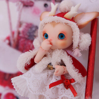 1/8 5.5inch Bjd Doll SD Doll Rudy Deer Free Face Make UP+Free Eyes Cute Doll  (Deer Face Makeup)