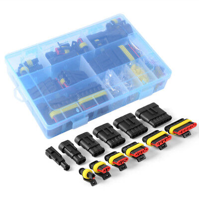 Waterproof Car Auto Electrical Wire-connector Plug Kit 1-6 Pin Way Blade Fuses