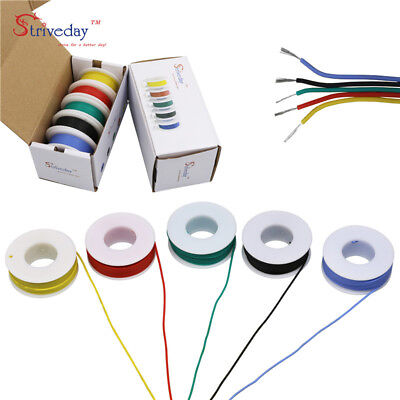 30282624222018awg 5 Colors Flexible Silicone Wire Tinned Copper Line