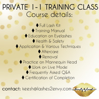 Classic eyelash extension course $600