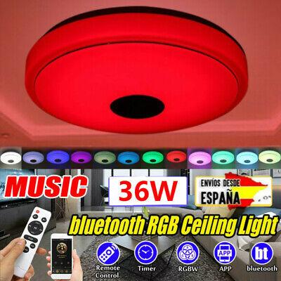 36W LED Lámpara de Techo bluetooth Música Altavoz Control Remoto RGB Ligero