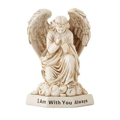 Angel Statue Figurine Praying I Am With You Always Memorial Grave Marker Pet Cat